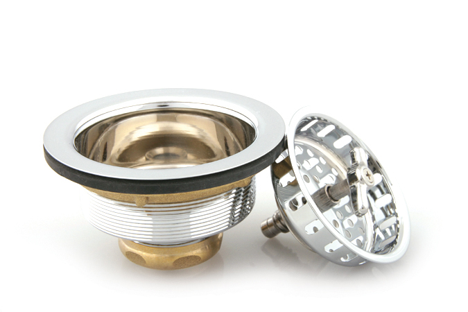 Trim By Design TBD155.17 Wing Nut Locking Type Basket Strainer - Brushed Nickel (Pictured in Polished Chrome)