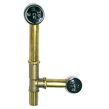 Trim By Design TBD315.17 Trip Lever Waste And Overflow With Bathtub Drain - Brushed Nickel (Pictured in Polished Chrome)