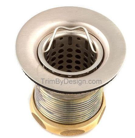 Trim By Design TBD170.20 Jr. Basket Strainer with Basket - Stainless Steel (Pictured in Brushed Nickel)