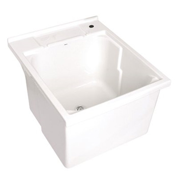UL110-17 Deca Fine Fire Clay Laundry Sink - White