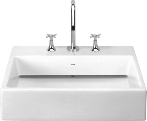 UL871-17 Deca Single Hole Concealed Waste Slab Lavatory Basin - White