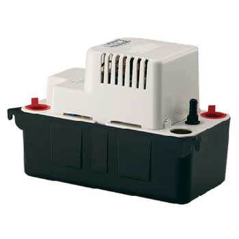 Little Giant VCMA-20ULS 80 GPH - Automatic Condensate Removal Pump w/ safety switch, 6' Power Cord (554425)