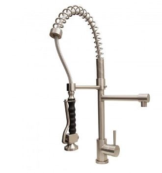 Vigo VG02007ST Single Handle Pull-Down Spray Kitchen Faucet - Stainless