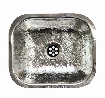 Whitehaus WH690BBM Rectangular undermount Entertainment/Prep sink with a Hammered Texture Surface - Stainless Steel