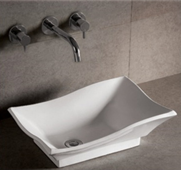 Whitehaus WHKN1078 Isabella Rectangular Vessel Sink - White
