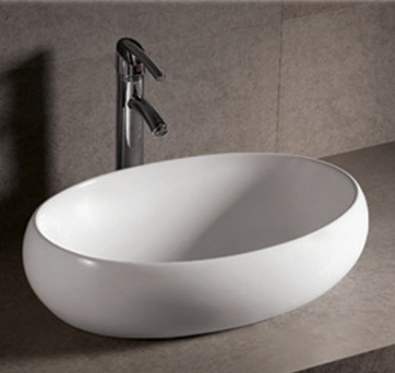 Whitehaus Whkn1091 Isabella Oval Vessel Sink With Offset Center Drain White Faucetdepot Com