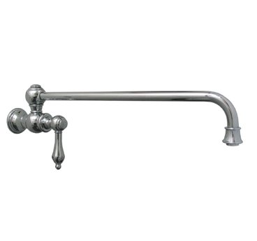Whitehaus WHKPFSLV3-9000-BN Vintage III Wall Mount Pot-Filler with Lever Handle - Brushed Nickel (Pictured in Polished Chrome)
