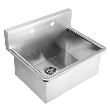 WhiteHaus WHNC2520-BSS 25 Inch Noah Commercial Drop-In Laundry-Scrub Sink - Brushed Stainless Steel