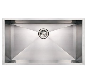 Whitehaus WHNCM3219 Noah Commercial Single Bowl Undermount Sink - Brushed Stainless Steel