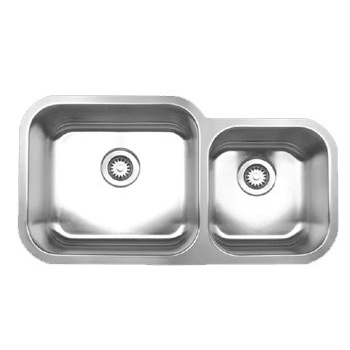 Whitehaus Noah Collection Small Single Bowl Undermount Kitchen Sink