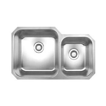 Whitehaus Noah Collection Small Single Bowl Undermount Kitchen Sink