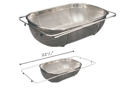 Whitehaus WHNEXC01 Over the Sink Extendible Colander/Strainer - Stainless Steel