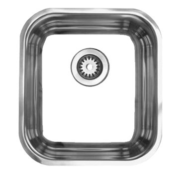 Whitehaus WHNU1614 Noah Single Bowl Undermount Kitchen Sink - Brushed Stainless Steel