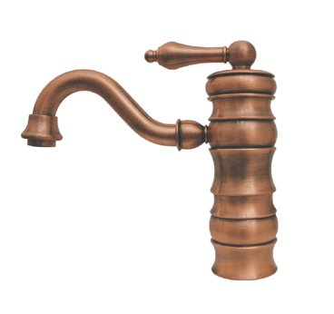 Whitehaus WHVEG3-1095-PTR Vintage III Single Lever Bar/Prep Faucet - Pewter (Pictured in Antique Copper)