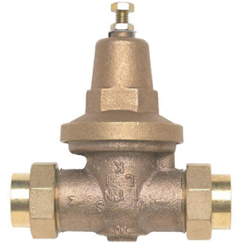 Wilkins 70XLDUC 3/4 in Water Pressure Reducing Valve with Double Union Female Copper Sweat - Lead Free