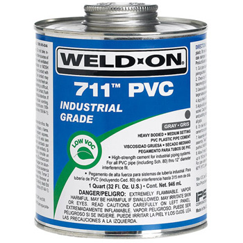 Weld On 711 Pvc Pipe Cement 1 Gallon Faucetdepot Com