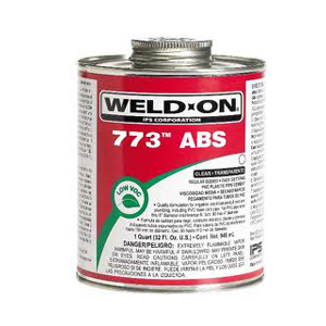 IPS Weld-On 10245 1/2 Pint Black 773 ABS Medium Bodied Cement