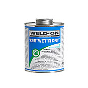 IPS Weld-On 10167 1/2 Pint Blue PVC 725 Wet R Dry Conditions Cement