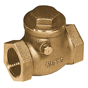 watts 0555249 lfcv 4 tee pattern swing check valve with threaded connections. Black Bedroom Furniture Sets. Home Design Ideas
