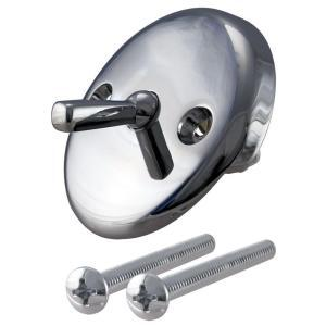 Westbrass 792Z-CP Trip Lever Overflow Faceplate with Screws - Chrome