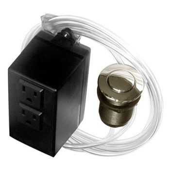Westbrass ASB-2-20 Air Switch and Dual Outlet Control Box - Stainless Steel