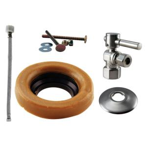 Westbrass D1613TBL-07 Handle Ball Valve Kit Wax Ring Toilet Lever - Satin Nickel