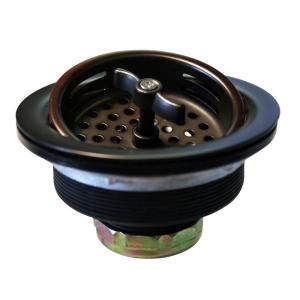 Westbrass D213-12 Wing Nut Basket Strainer - Oil Rubbed Bronze