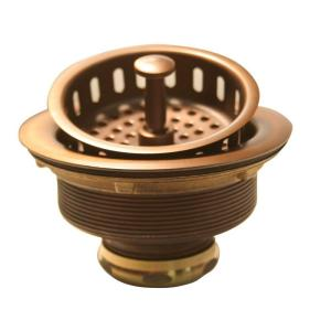 Westbrass D214-11 Post Basket Strainer - Antique Copper