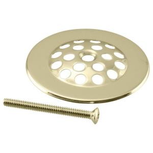 Westbrass D327-01 Beehive Style Tub Strainer Grid with Screw - Polished Brass