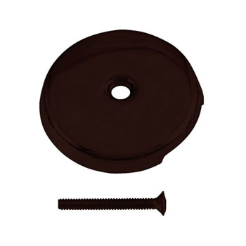 Westbrass D328-12 1-Hole Overflow Faceplate with Screw - Oil Rubbed Bronze