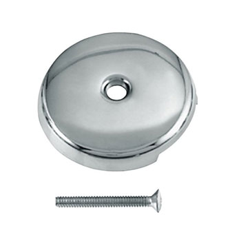 Westbrass D328-26 1-Hole Overflow Faceplate with Screw - Chrome