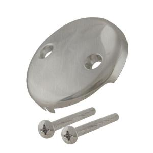 Westbrass D329-07 Two-Hole Faceplate with Screw - Satin Nickel