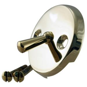 Westbrass D330-01 Round Trip Lever Style Faceplate with Screws - Polished Brass