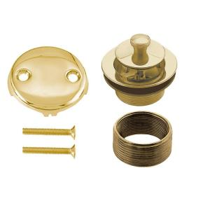 Westbrass D94K-01 Twist & Close Universal Trim Set 2-Hole - Polished Brass