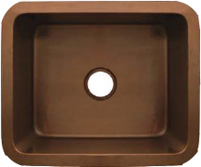 Whitehaus WH1921COUM-SCO Copperhaus Rectangular Undermount Sink - Smooth Copper