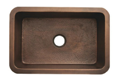 Whitehaus WH3020COUM-SBRZ Copperhaus Rectangular Undermount Sink - Smooth Bronze