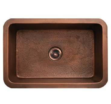 Whitehaus WH3020COUM-SCO Copperhaus Rectangular Undermount Sink - Smooth Copper