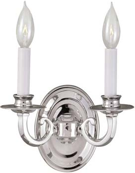 World Imports WI-3202-08 Sconce 2 Light Wall Sconce - Chrome