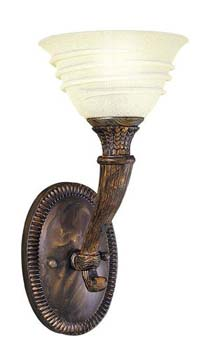 World Imports WI-3755-58 Transitional Up Lighting Wall Sconce - Oxide Bronze