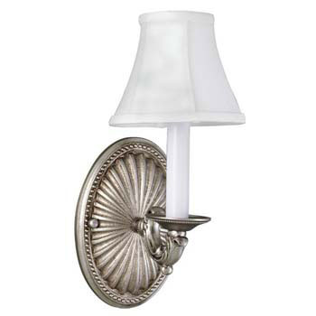 World Imports 6207-17 Monticello 1-Light Sconce - Pewter