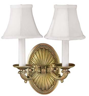 World Imports WI-6208-14 Sconce 2 Light Wall Sconce - Pewter