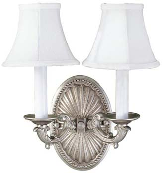 World Imports WI-6208-17 Sconce 2 Light Wall Sconce - Pewter