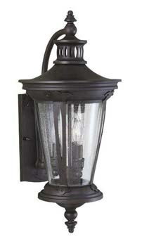 World Imports WI-74261-89 Exterior 3 Light Exterior Wall Lantern - Bronze