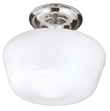 World Imports 9007-37 Semi Flush Mount Ceiling Light - Brushed Nickel (Pictured in Chrome)
