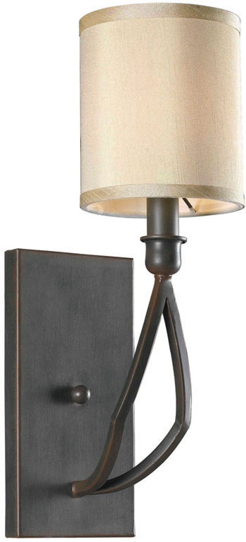 World Imports WI-3501-42 Decatur 1 Light Wall Sconce with Shade - Rust