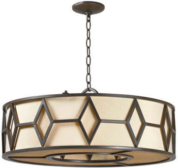 World Imports WI-3505-42 Decatur 5 Light Iron Pendant - Rust