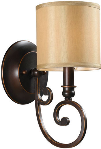 World Imports WI-3511-29 Rue Maison 1 Light Wall Sconce with Shade - Euro Bronze