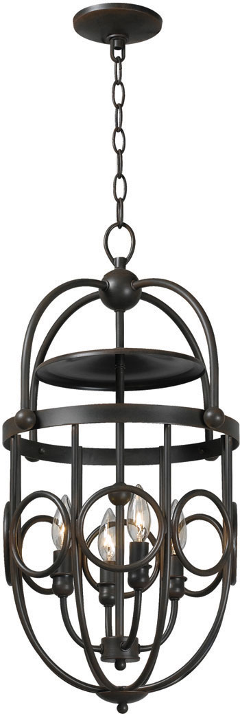 World Imports WI-3514-42 Belle Chasse 4 Light Iron Pendant - Rust