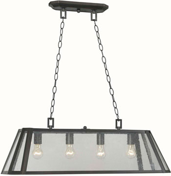 World Imports WI-6134-88 Bedford 4 Light Iron Pendant - Oil Rubbed Bronze