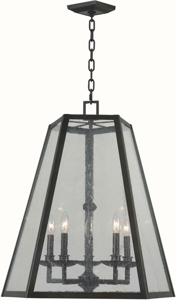 World Imports WI-6135-88 Bedford 5 Light Iron Pendant - Oil Rubbed Bronze